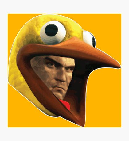 Hitman Chicken suit disguise Photographic Print