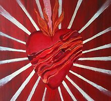 Bacon Wrapped Heart by Troy V