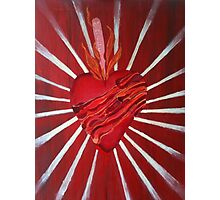 Bacon Wrapped Heart Photographic Print
