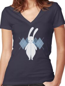 Blue Bunny Women's Fitted V-Neck T-Shirt