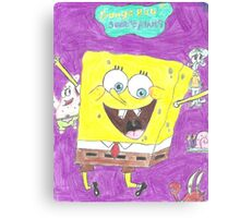 Spongy BOB Canvas Print