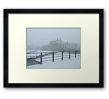 Bognor Regis in the snow Framed Print