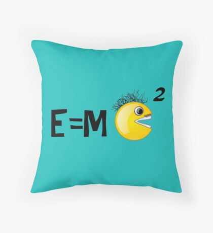 SMILEY does his Albert Einstein imitation! Throw Pillow