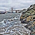 Rough water by Golden Gate Bridge, SF,CA by vincefoto