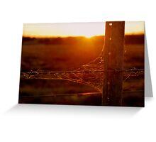 Rustic Sunset Greeting Card