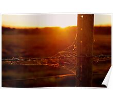 Rustic Sunset Poster