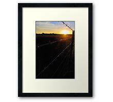 Along the Country Fence Framed Print