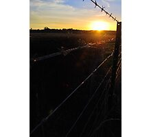 Along the Country Fence Photographic Print