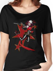 2011 Derby Rogue Streak W/O Logo RED STAR EDITION Women's Relaxed Fit T-Shirt