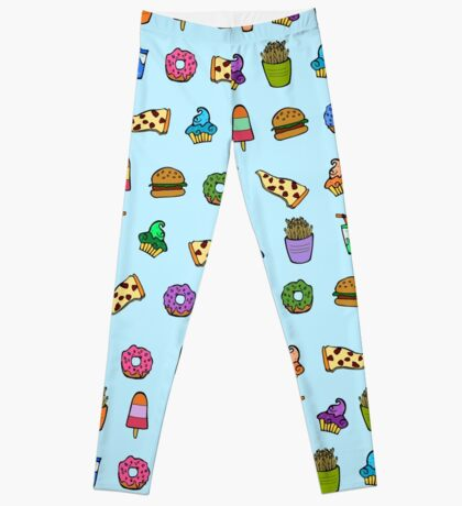 food pattern Leggings