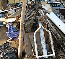 Brisbane Floods 2011 - Clean Up - One Man's Trash..... by Neil Ross