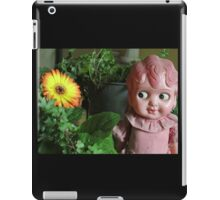 Old Doll enjoying a Gerbera iPad Case/Skin