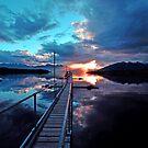 Lake Te Anau at sunset. South Island, New Zealand. (8) by Ralph de Zilva