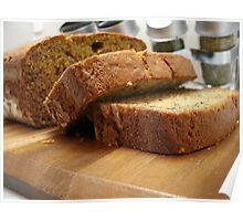 Banana nut bread Poster
