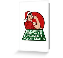 Feminist christmas humor Greeting Card