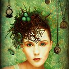 Girl With Bird&#x27;s Nest by Sybille Sterk