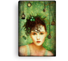 Girl With Bird's Nest Canvas Print