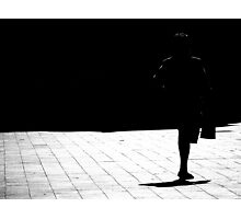 Walking in to the dark shadows.. Photographic Print