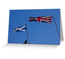 Flags of the UK and Scotland Edinburgh Scotland Greeting Card
