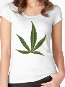 Cannabis #8 Women's Fitted Scoop T-Shirt