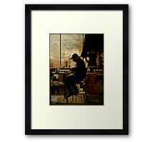 The worker - Lost in the past Framed Print