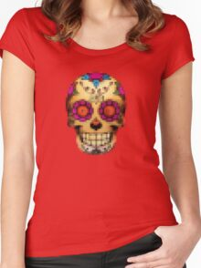 day of the dead - pixel edition Women's Fitted Scoop T-Shirt