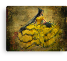 The dancer - Lost in the past Canvas Print
