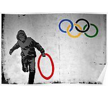 Olympic Rings Banksy Poster