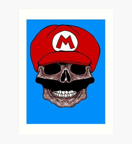 SUPER MARIO SKULL T-SHIRT Art Print
