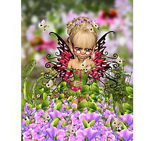Cherry Blossom Fairy Photographic Print