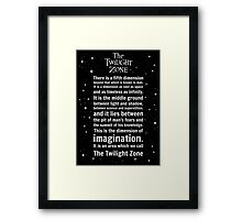 The Twilight Zone Intro Framed Print