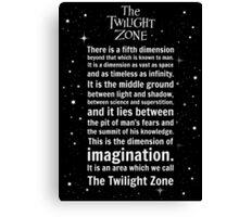 The Twilight Zone Intro Canvas Print