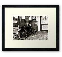 The Old Bike Framed Print