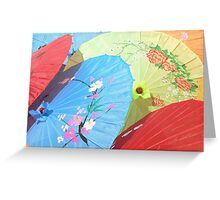 Colourful Parasols China Greeting Card