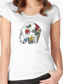 Peace Elephant Women's Fitted Scoop T-Shirt