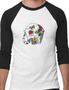 Peace Elephant Men's Baseball ¾ T-Shirt