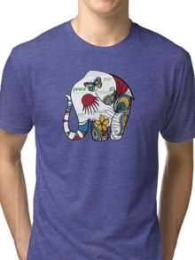 Peace Elephant Tri-blend T-Shirt