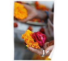 Marigolds and Roses, Bijaipur Poster