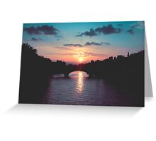 Sunset over the Seine, Paris Greeting Card