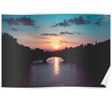 Sunset over the Seine, Paris Poster