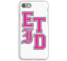 Every Time I Die - Varsity Letters (Pink in Black) iPhone Case/Skin
