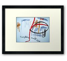 Everything Must Go Framed Print