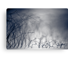 ...wire storm... Canvas Print