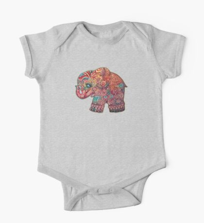 Vintage Elephant TShirt One Piece - Short Sleeve