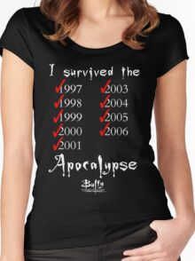 I Survived the Apocalypse Women's Fitted Scoop T-Shirt