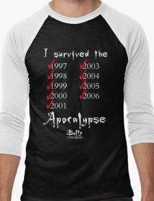 I Survived the Apocalypse Men's Baseball ¾ T-Shirt