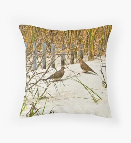 DOVES IN THE DUNE Throw Pillow
