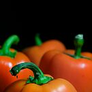 Orange Bell Peppers by snehit