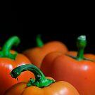 Orange Bell Peppers by snehit