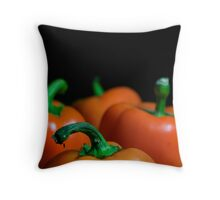 Orange Bell Peppers Throw Pillow